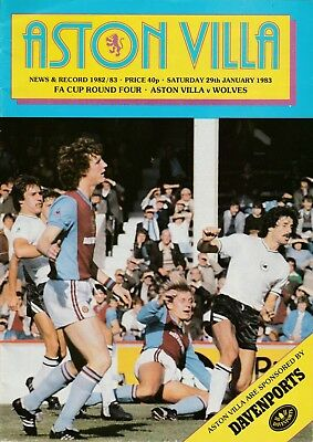 ASTON VILLA v WOLVES 1982/83 FA CUP 4TH ROUND