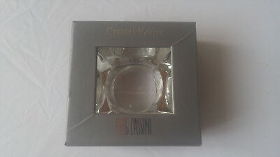 Oleg Cassini Crystal Votive Clear Bauhaus 125541 NIB Signed Original Box