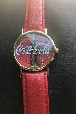 Coca-Cola Red Wrist Watch. Coke Bottle On Face. New Never Used.