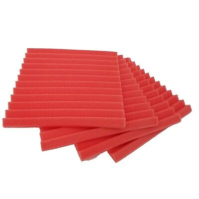 """12 pcs 12""""x12""""x1"""" Acoustic Foam Red Panel Tiles Wall Record Studio Sound Proof"""