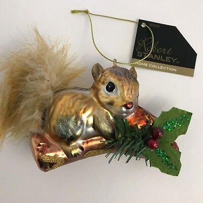 Robert Stanley Glass Ornaments Squirrel Country Christmas Tree Decoration