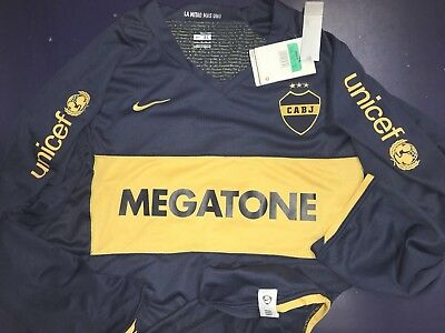 hot sale online 20767 94be1 NIKE BOCA JUNIORS soccer jersey Roman Riquelme CABJ Argentina League World  Cup