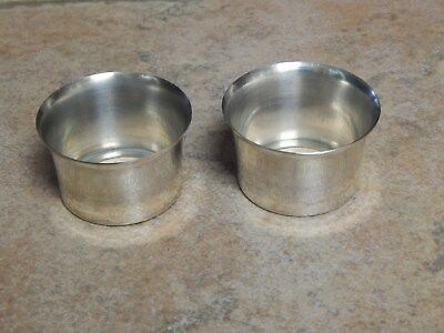 Vtg Sterling Silver Bobeches Pair For  Candleholders, Drip Cups