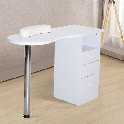 Nail Technician Manicure Table Beauty Salon Workstation Desk Art Polish Drawers