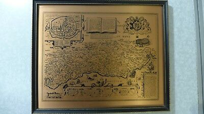 Old Map of Sussex Metal Framed John Speed 1610 Reproduction **See Notes**
