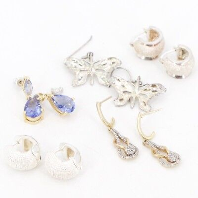 VTG Sterling Silver - Lot of 5 Assorted Earring Pairs NOT SCRAP - 31g