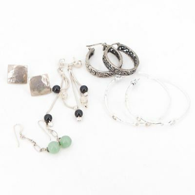 VTG Sterling Silver - Lot of 5 Assorted Earring Pairs NOT SCRAP - 26g