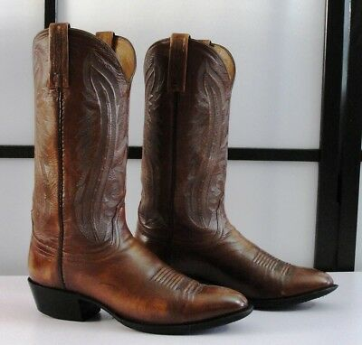 abe1e298f64 LUCCHESE 2000 T3013R4 Rustic Kangaroo Leather Cowboy Boots Men's 8.5