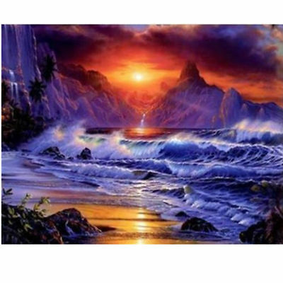 "Diamond Painting - Diamant Malerei - Stickerei - ""Sonnenuntergang"" (145)"
