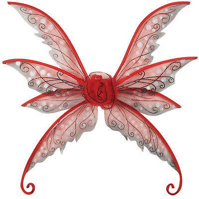 """Star Power Magical & Mysterious Fairy Wings, Red, One Size (24"""")"""