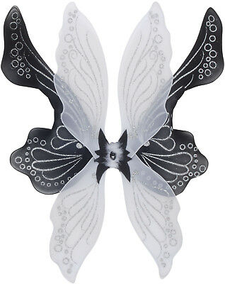 "Star Power Magical & Mysterious Fairy Wings, Black White, One Size (28"")"