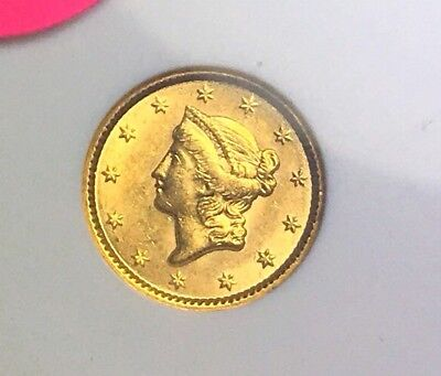 1851 Classic Gold Dollar $1 Piece In Gorgeous Condition., Really Nice From Set