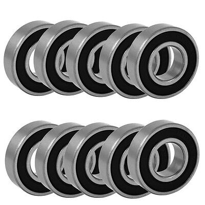 10pcs 6203-2RS two side rubber seals bearing 6203-rs ball bearings 6203RS