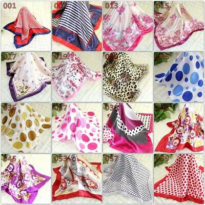 New Women Ladies Elegant Small square Scarves Silk Office Kerchief Scarf 50*50CM