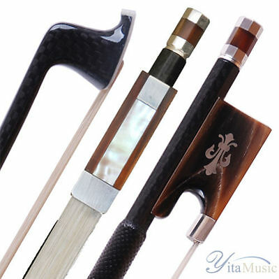 Carbon Fiber Violin Bow #58F Silver OX Horn Frog for Advanced Players&Upwards