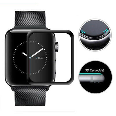 3D Full Cover Tempered Glass Apple Watch iWatch 38mm/42mm Screen Protector Case