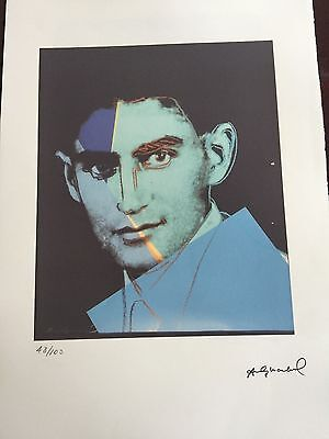Andy Warhol Lithographie 57 x 38 Arches France Timbre Sec Galerie Art Je011