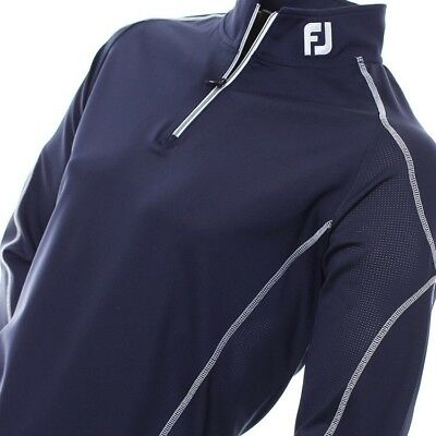 Mens FootJoy Mixed Texture Chill Out 1/2 Zip Golf Pullover