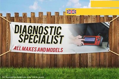 Diagnostic Specialist All Makes and Models Heavy Duty PVC Banner Sign 3284