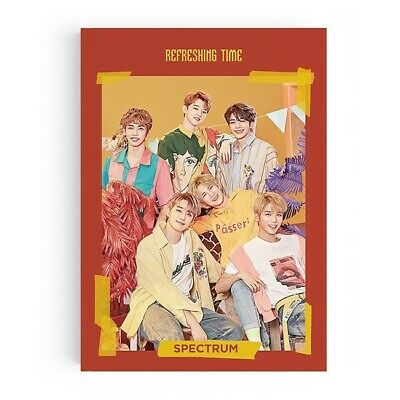 SPECTRUM [REFRESHING TIME] 3rd Single Album CD+Photo Book+3p Card+Sticker+Photo