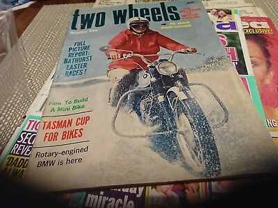 Original old Two Wheels magazine number two 2 1960s Motor Scooters Bathurst
