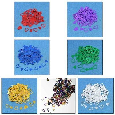 600PCS Heart Shape Confetti Sprinkles Wedding Party Scatter Table Decor Supplies