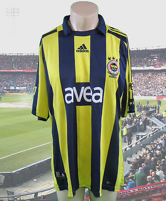 Fenerbahce 2008-09 home shirt adidas soccer jersey size XL