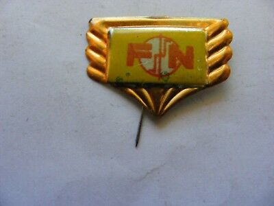 FN motorcycle very old lapel,hat pin badge,prob. 1950s.(E)