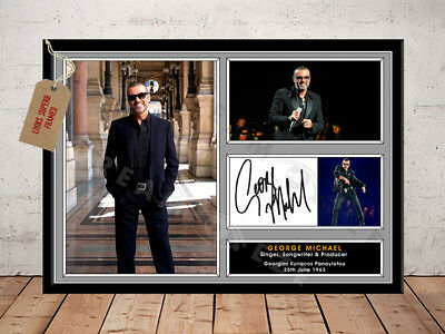 George Michael Wham Autographed Signed Repro Music Photo Print