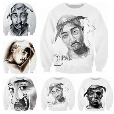 2018 Women/'s//men/'s HIP HOP 2PAC 3D print Short Sleeve Casual Top T-Shirts BG77