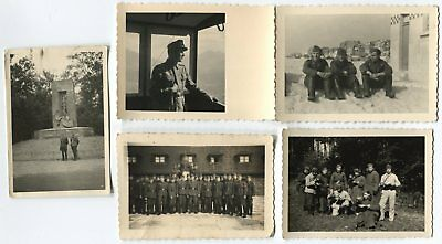 Lot 5 Various German Wwii Small Size Photos