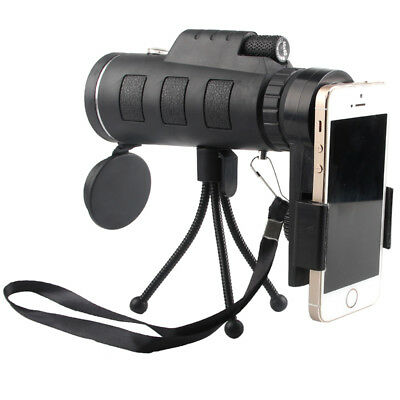 40x60 Zoom Optical HD Lens Monocular Telescope+ Tripod+ Clip For Smart Phone US