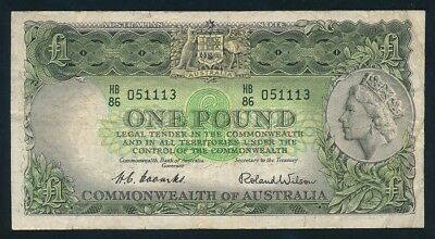 """Australia: 1953 FIRST ISSUE QEII £1 """"Commonwealth Bank"""". RARE LUCKY NUMBER """"111"""""""