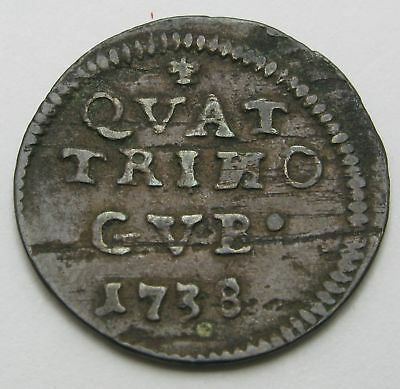 PAPAL STATES - GUBBIO Quattrino ND(1738) - Copper - Clement XII. - 1848