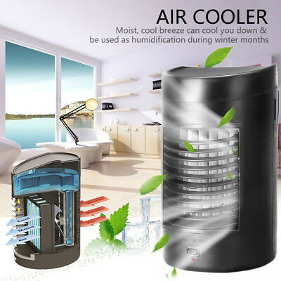 Portable Air Cooler Fan USB Mini Air Conditioner Evaporator Home Office Cooling