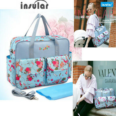Insular Baby Diaper Bag Large-Capacity Maternity Bag Baby Stroller Nappy Mom Bag