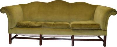 18236 Antique Country Chippendale Camel Back Period Sofa