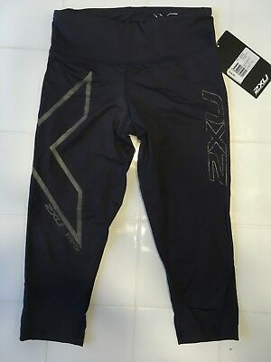 NIB 2XU Women's Hyoptik Compression Mid-rise Tights 3/4 - Size XS