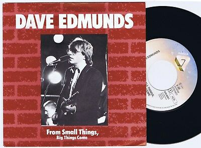 DAVE EDMUNDS From Small Things Big Things Come Dutch/Scandinavian 45PS 1982.