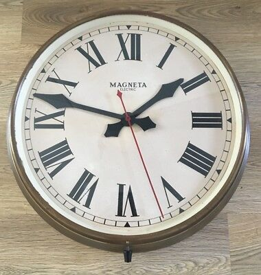 Very Large Stunning Vintage Station/ Industrial/ Factory/ Shop Brass Clock