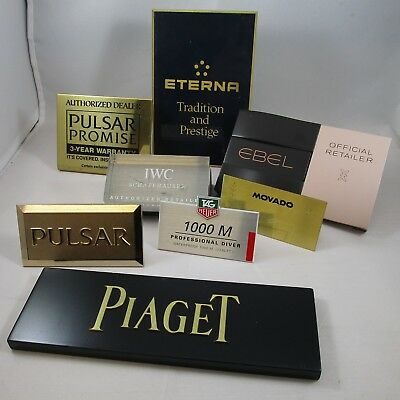 Watch Display Plaque Stand Retail Marketing Various Brands Lot of 8