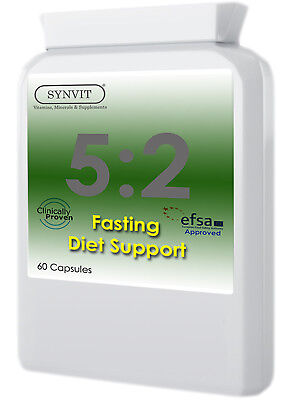 5:2 Diet Support 60 Capsules, fasting, 5 to 2, weight loss, 5:2, Synvit
