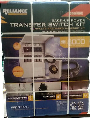 New Reliance 306Crk Pro Tran 2 Generator Power Transfer Switch Kit 6 Circuit