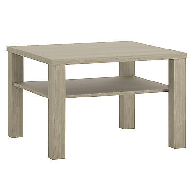 Champagne Light Oak Effect Small Square Top Coffee Table / Occasional Table
