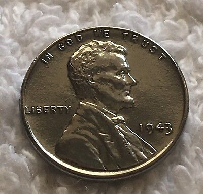 1943-P Steel Lincoln Cent From Obw Roll Wow Look