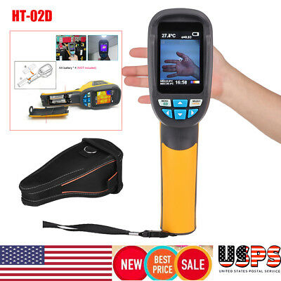 HT-02D Handheld Thermal Imaging Camera -20℃~300℃ IR Infrared Thermometer Image