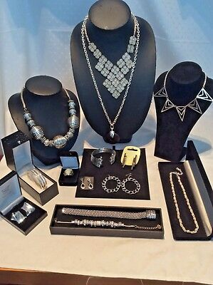 Job Lot Mixed Vintage & Modern Silver Costume Jewellery