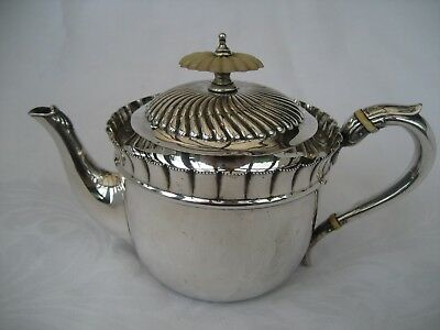 VICTORIAN SILVER BACHELOR TEAPOT - Walker & Hall, Sheffield, 1894.