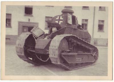 German Wwii Small Size Photo: Renault Ft-17 Training Tank, Agfa Brovira Paper