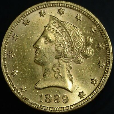 1899 US $10 Dollar ,Libety Head Eagle Gold Coin Great Condition